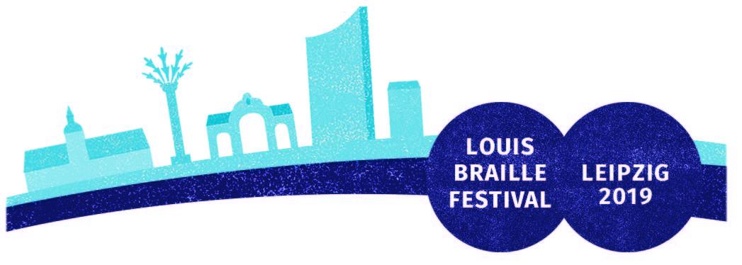 Logo Louis-Braille-Festival, Leipzig 2019